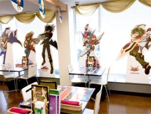 アニメイトカフェの『遊☆戯☆王』シリーズ誕生20周年記念カフェ