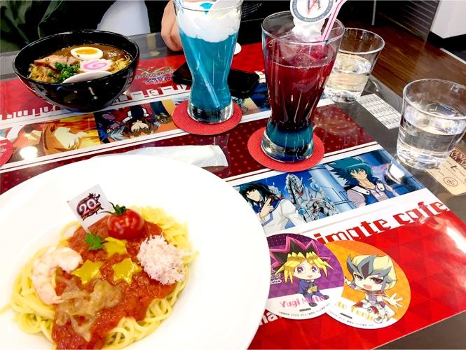 『遊☆戯☆王』シリーズ誕生20周年記念カフェ 20thスペシャルパスタ