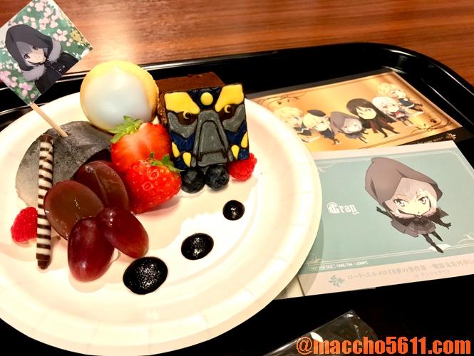 ナンジャタウン ロード・エルメロイⅡ世 グレイの黒ゴマムースとチョコレートケーキのデザートプレート
